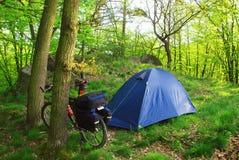 лагерь велосипедиста Стоковая Фотография