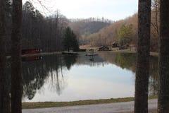 Лагерь в предгорьях Северной Каролины Стоковые Фото