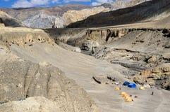 Лагерь и пустыня высоты в мустанге Стоковое фото RF