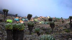 Лагерь Килиманджаро Barranco Стоковые Изображения