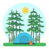 Лагерь леса бесплатная иллюстрация