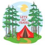 Лагерь леса иллюстрация вектора