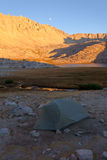 Лагерь на озере гитар Стоковые Фото