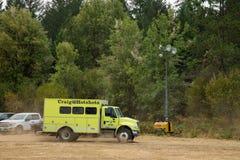 Лагерь огня Terwilliger в национальном лесе Willamette Стоковое Изображение