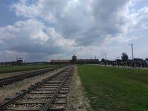Лагерь Освенцим i Birkenau стоковое фото