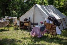 Лагерь периода гражданской войны Стоковое Изображение