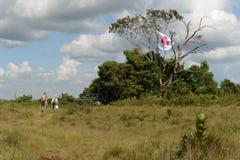 Лагерь разведчика мальчика около городка Сан-Хосе Del Guaviare Стоковое фото RF