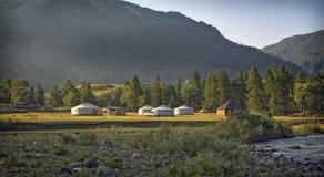 Лагерь туриста лета Стоковая Фотография