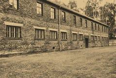 лагерь birkenau auschwitz Стоковая Фотография