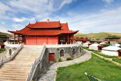 Лагерь ger на Ulaanbaatar, Монголии Стоковое Фото