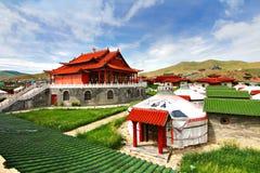 Лагерь ger на Ulaanbaatar, Монголии Стоковая Фотография RF
