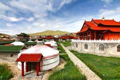 Лагерь ger на Ulaanbaatar, Монголии Стоковое Изображение