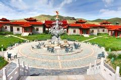 Лагерь ger на Ulaanbaatar, Монголии Стоковые Изображения