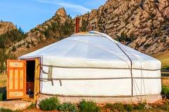 Лагерь Ger туристский, Монголия Стоковое Изображение RF