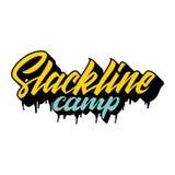 Лагерь Slackline иллюстрация вектора