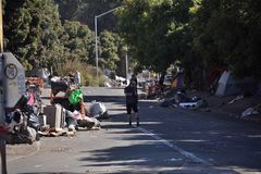 Лагеря бездомные как Калифорнии стоковое фото rf