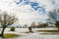 Лагуна Венеции в зиме Стоковые Фото