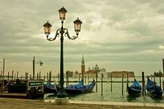 Лагуна Венеции в унылом восходе солнца Стоковые Фотографии RF