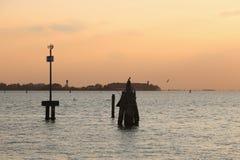 Лагуна Венеции, Италии Стоковые Изображения