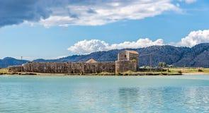 Лагуна в месте Butrint археологическом стоковые изображения rf