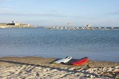 Лагуна в пляже carcavelos Стоковая Фотография