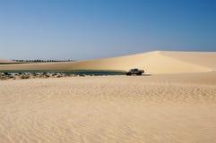 Лагуна и дюны Стоковые Изображения RF