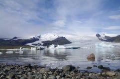 Лагуна ледника, Vatnajökull, Исландия Стоковое Изображение