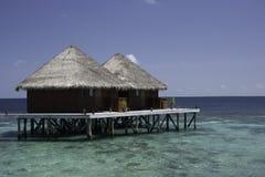 лагуна Мальдивы бунгал Стоковые Фотографии RF