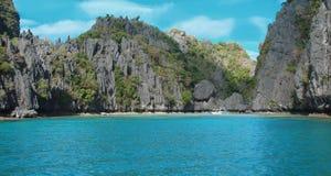 Лагуна на острове Palawan, Филиппинах Стоковое Изображение