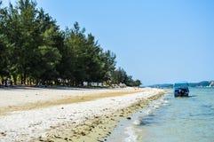 Лагуна пляжа Bilene в Paraia делает Bilene, Мозамбик Стоковое фото RF