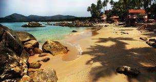 Лагуна пляжа Palolem, Goa Стоковые Фотографии RF