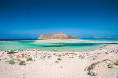 Лагуна Balos на острове Крита, Греции стоковое изображение