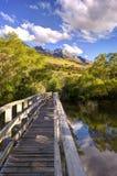 Лагуна Glenorchy, Новая Зеландия Стоковые Фотографии RF