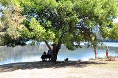 Лагуна Koutavos, Argostoli, Kefalonia, Ionian острова, Греция Стоковая Фотография RF