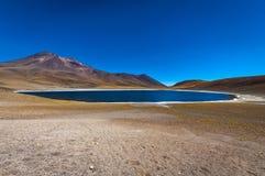 Лагуна Miniques в Чили, Южной Америке Стоковое фото RF
