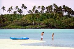 Лагуна Muri в Острова Кука Rarotonga Стоковое Изображение RF