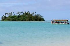Лагуна Muri в Острова Кука Rarotonga Стоковая Фотография RF