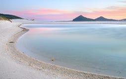 Лагуна Winda Woppa на заходе солнца Стоковое Изображение RF