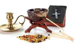 ладан frankincense censer цветастый Стоковое Изображение RF