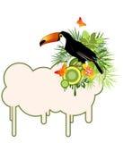 ладони птицы тропические Иллюстрация вектора