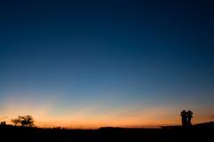 ладони 2 пустыни дистантные Стоковое Фото