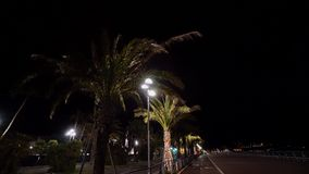 Ладонь в городе ночи сток-видео