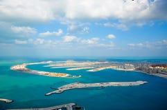 ладонь Дубай пляжа Стоковые Изображения RF