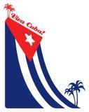ладонь иллюстрации флага Кубы Стоковые Фотографии RF