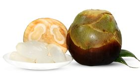 Ладонь пальмиры, ладонь Toddy или ладонь сахара плод изолированный на белизне стоковое изображение rf