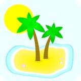 ладонь 2 острова Стоковые Изображения