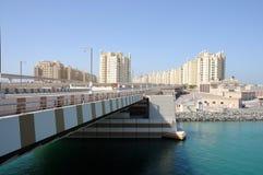 ладонь jumeirah Дубай моста стоковые фотографии rf