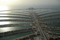 ладонь jumeirah острова Стоковые Изображения