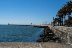 Ладон-выровнянный портовый район в Foz делает Дуэро стоковое фото