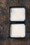 Лазанья в пластичной коробке Стоковое фото RF
